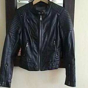 Ci Sono Faux Leather Motto Jacket